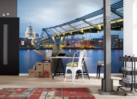Wall mural wallpaper Millennium Bridge London